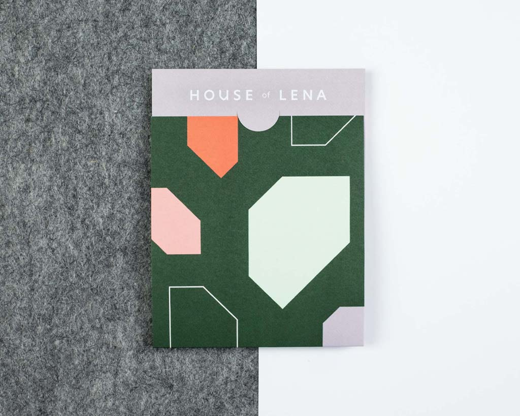 House of Lena brand identity receipt holder
