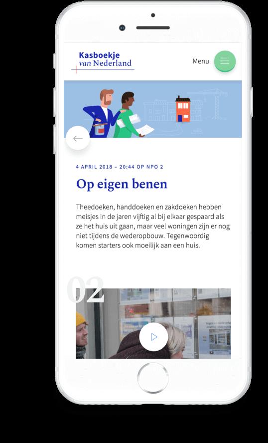 Kasboekje van Nederland. 'Op eigen benen' episode on iPhone