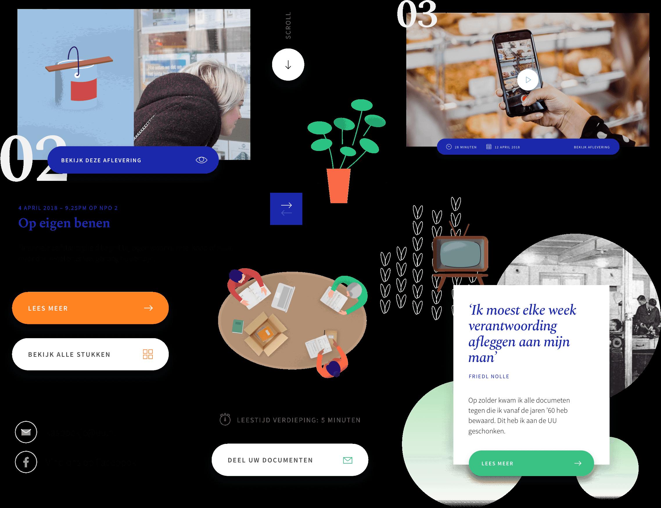Kasboekje van Nederland user interface components