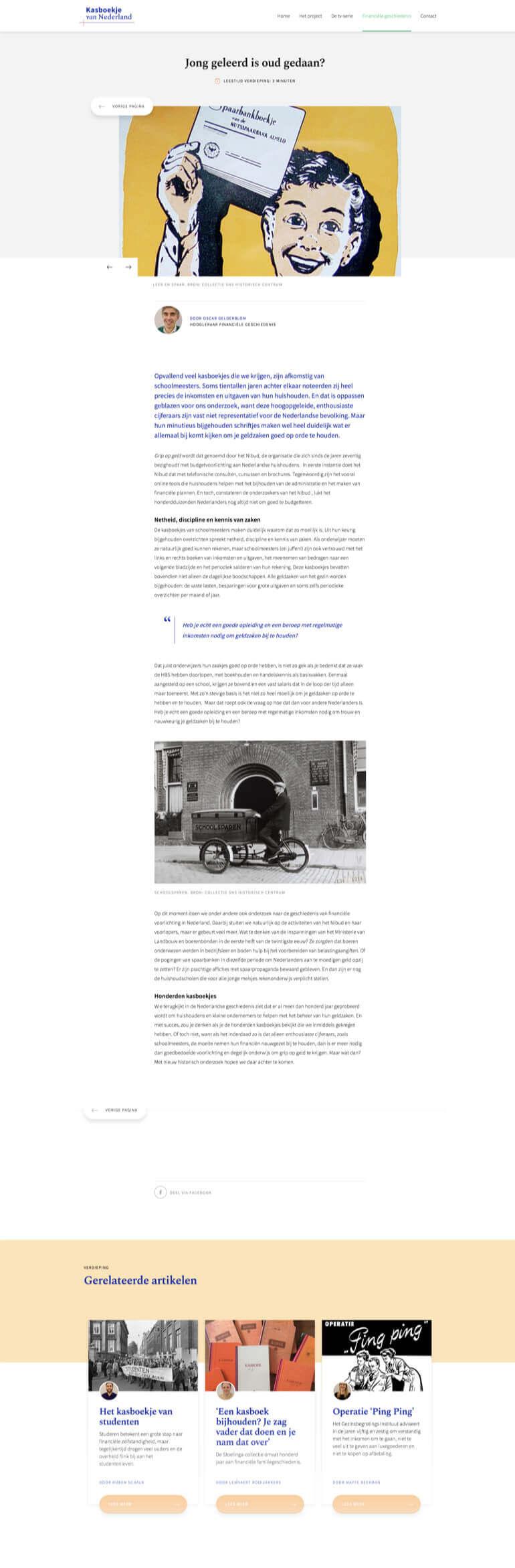 Kasboekje van Nederland article or news page