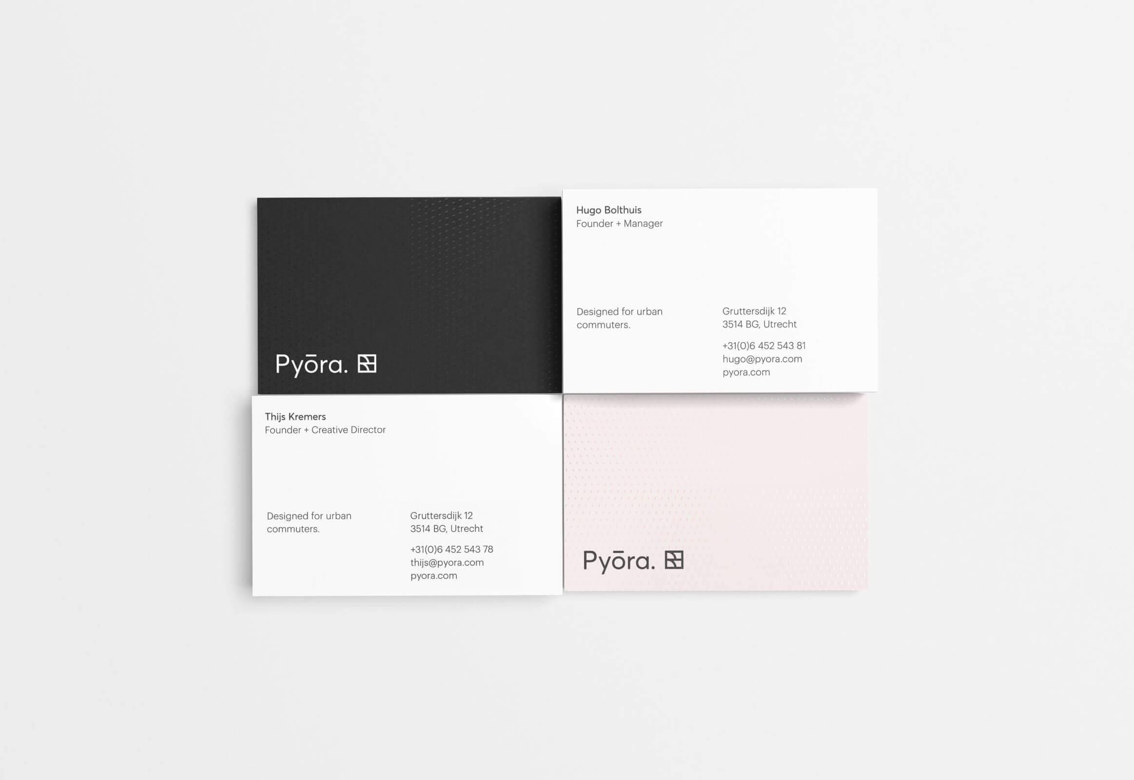 Pyora stack of business cards