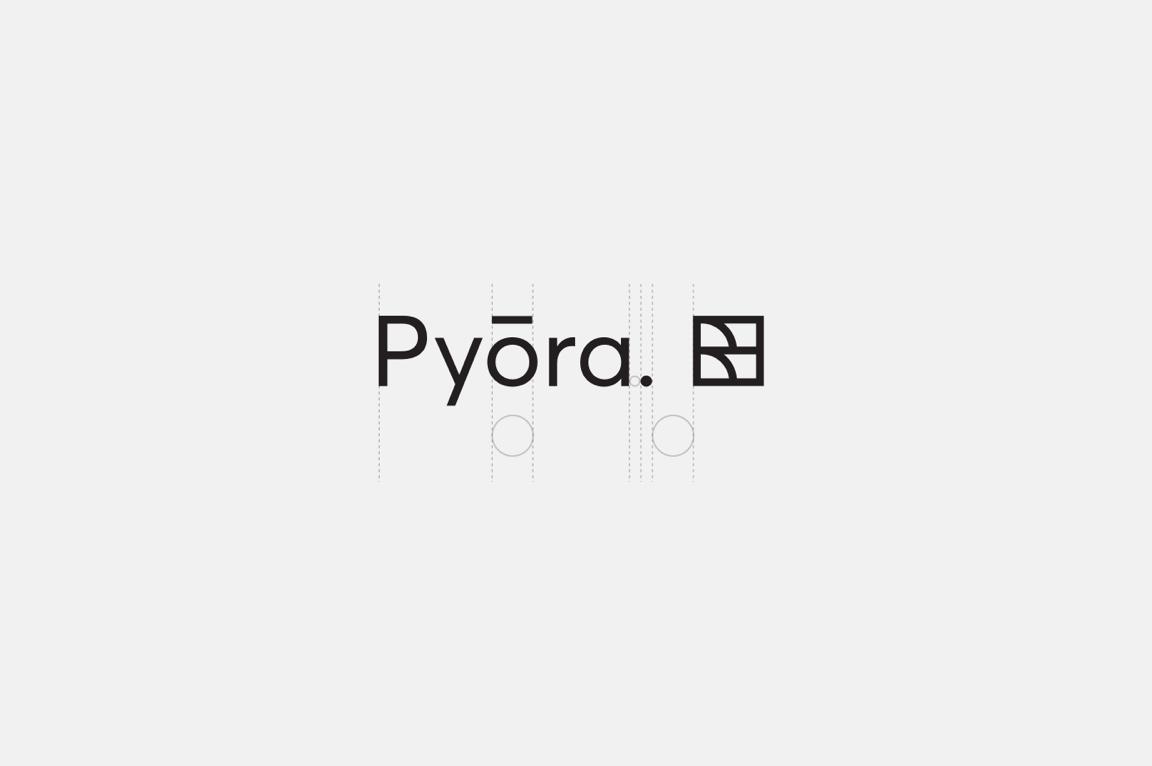 Pyora logo wireframe