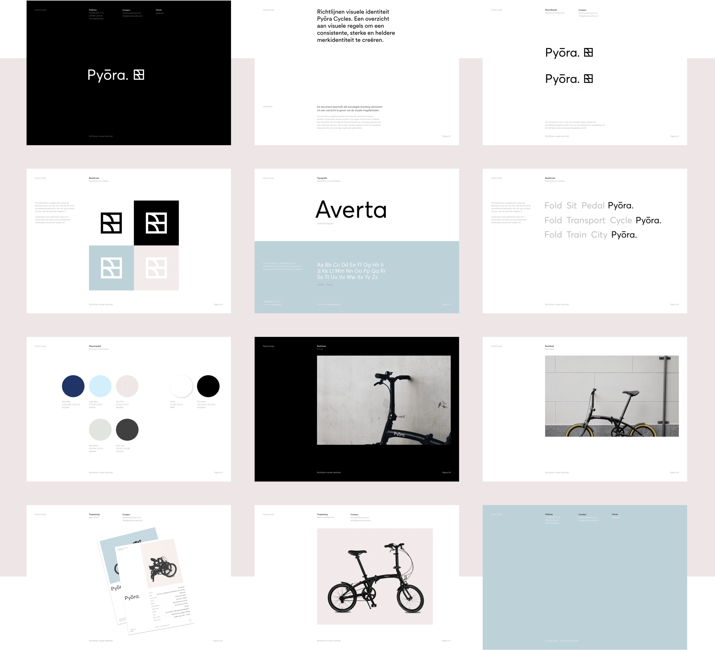 Guideline pages for the Pyora brand