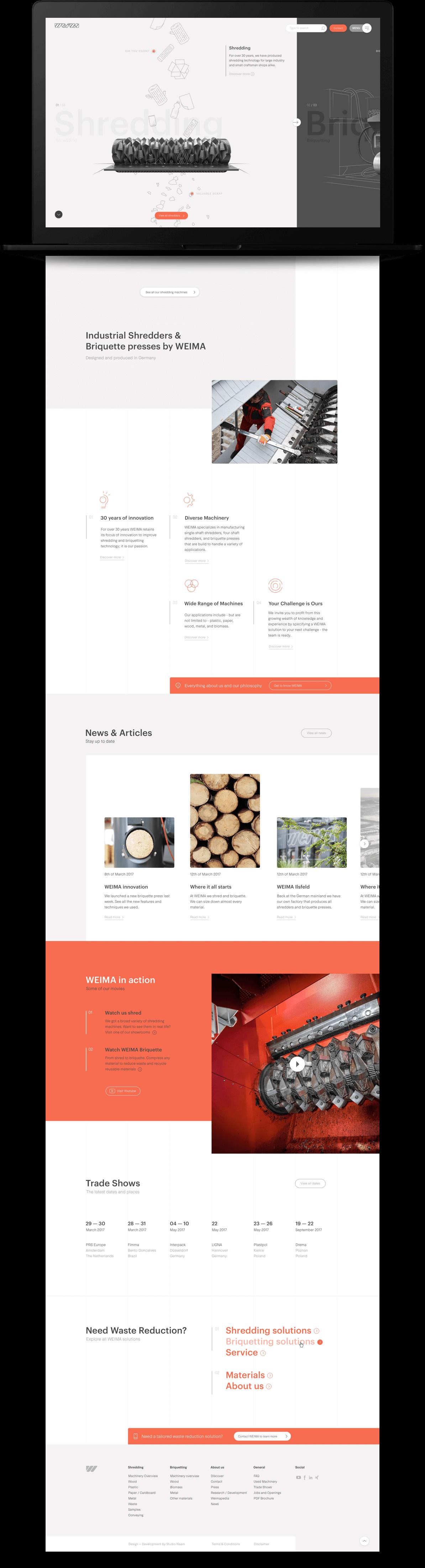 The Weima Maschinenbau homepage.
