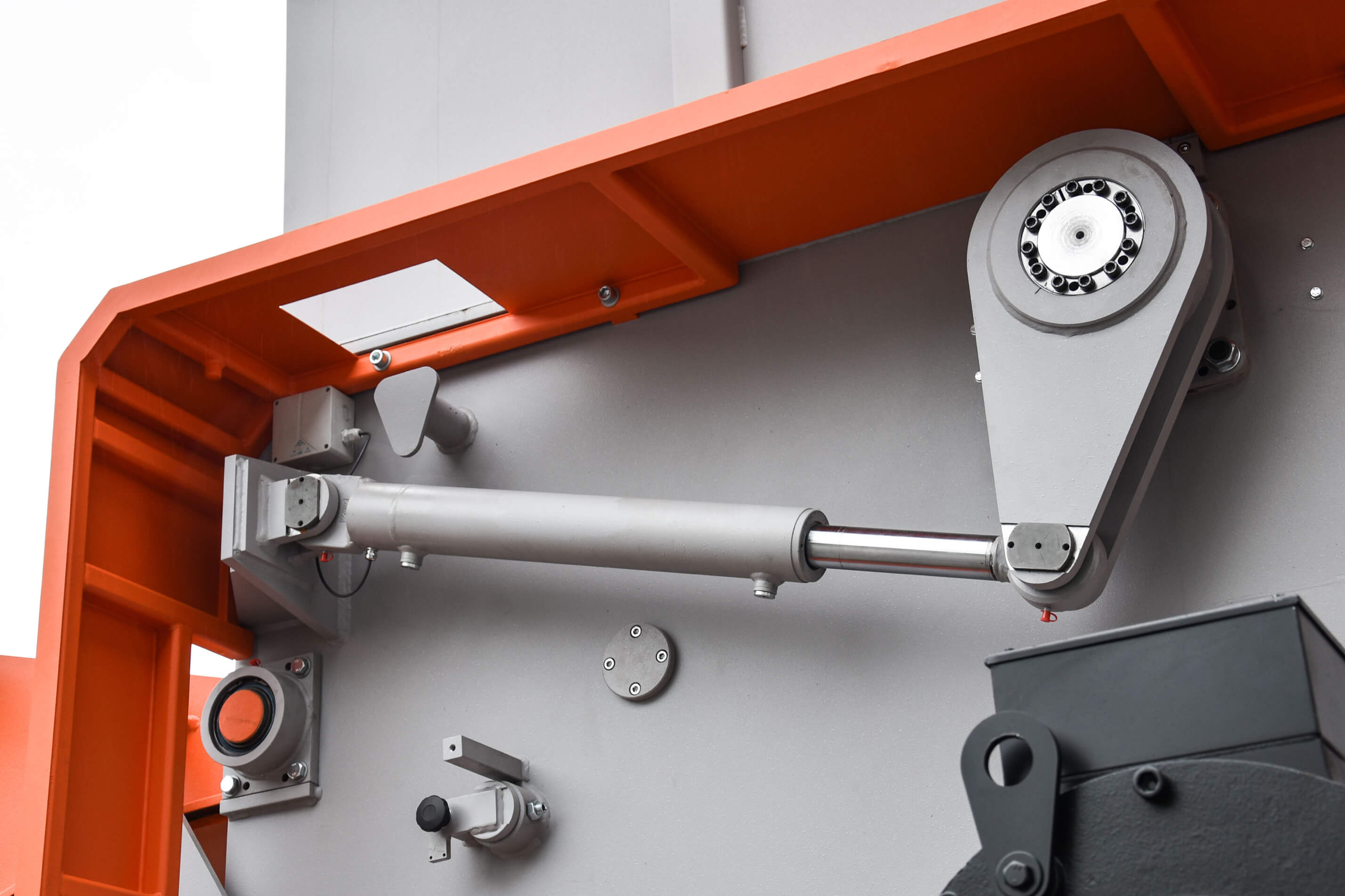 Foto van een Weima machine hydraulische pers
